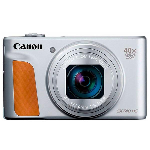 Canon powershot sx740hs plata cámara de fotos digital compacta 20.3mp uhd zoom óptico 40x wifi bluetooth